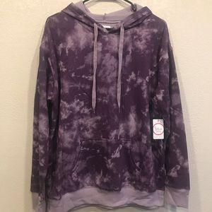 flirtitude Tops - Purple Tie Dye Hoodie
